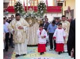 Volvieron las alfombras de flores a la procesión del Corpus Christi